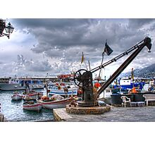 Camogli  crane Photographic Print