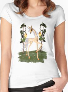 Fantasy Unicorn Women's Fitted Scoop T-Shirt