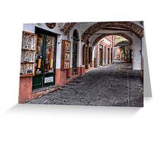 Camogli shopping Greeting Card