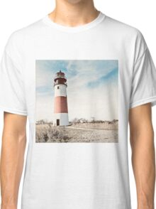 Sankaty Head Lighthouse on the island of Nantucket MA Classic T-Shirt