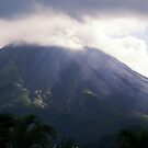 Arenal Volcano In the Mist by Tracy Riddell