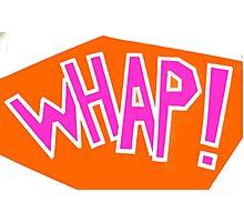 Whap! Batman 1960 punch Photographic Print