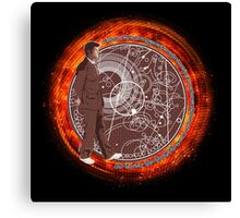 Wibbly Wobbly - Brown Canvas Print