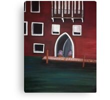 Venice Inspired Acrylic Painting Canvas Print