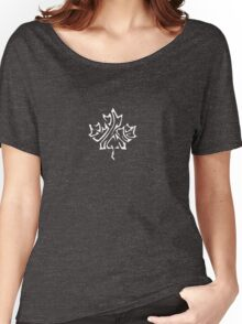 maple leaf (white) Women's Relaxed Fit T-Shirt