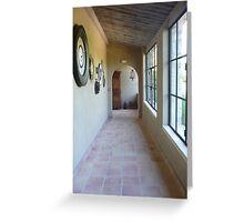 Down the Corridor - Mas de Pierre Greeting Card