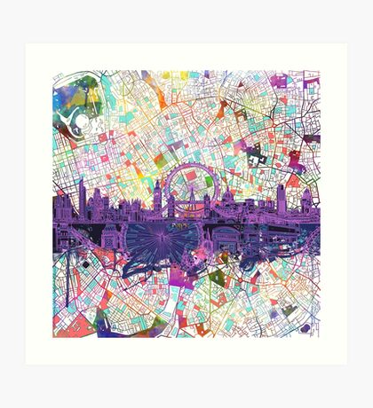 London skyline abstract Art Print
