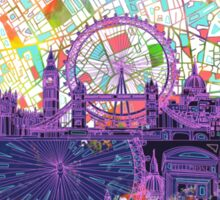 London skyline abstract Sticker