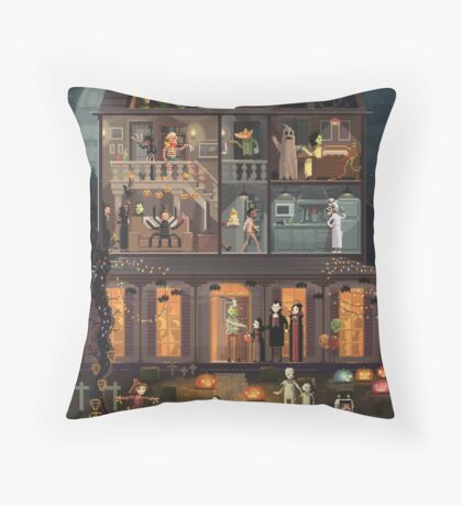 The Pumpkin costume Throw Pillow