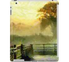 An English Country Scene in the Mist iPad Case/Skin