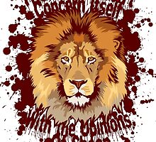 The lion doesn't concern itself with the opinions of sheep by EvilClone