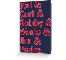 Boston Red Sox Hall of Fame Greeting Card
