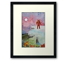 lasting stand of rombald Framed Print