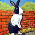 296 - TUFFY BUNNY - DAVE EDWARDS - COLOURED PENCILS & INK - 2010 by BLYTHART