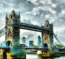 Tower Bridge, London by Dennis Melling