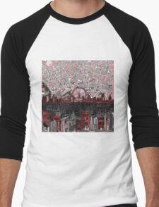 London skyline abstract 4 Men's Baseball ¾ T-Shirt