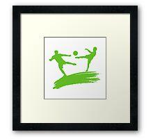 Soccer Players Framed Print