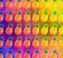 Retro Pineapple Pattern by Caites