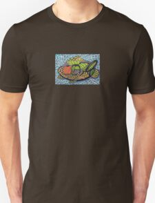 294 - ABSTRACT FISH DESIGN T-SHIRT - DAVE EDWARDS - INK AND COLOURED PENCILS - 2010 T-Shirt