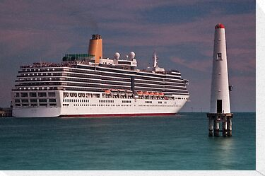 P & O Arcadia • Port Melbourne • Victoria by William Bullimore