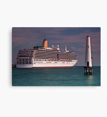 P & O Arcadia • Port Melbourne • Victoria Canvas Print