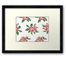 Romantic watercolor Peonies Framed Print