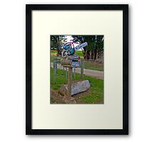 Chainsaw Letterbox Framed Print