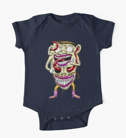 Melting Tongue Man One Piece - Short Sleeve