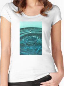 Turquoise Water Drop Women's Fitted Scoop T-Shirt