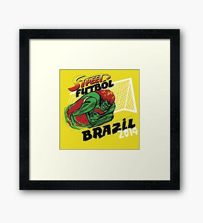 Street Futbol Brazil 2014 Framed Print