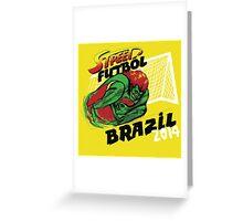 Street Futbol Brazil 2014 Greeting Card