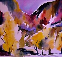 """Aspens of Yosemite"" 22 x 30"" by T.Fowler-Bailey by tfowlerbailey"