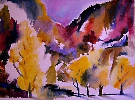 """""""Aspens of Yosemite"""" 22 x 30"""" by T.Fowler-Bailey by tfowlerbailey"""