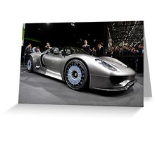 World's First Viewing of the Porsche 918 Spyder .... Greeting Card