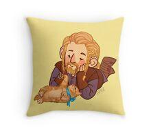 Fili and Kitten Throw Pillow