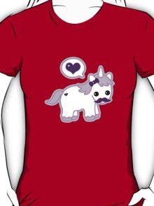 Cute mustache unicorn geek funny nerd T-Shirt