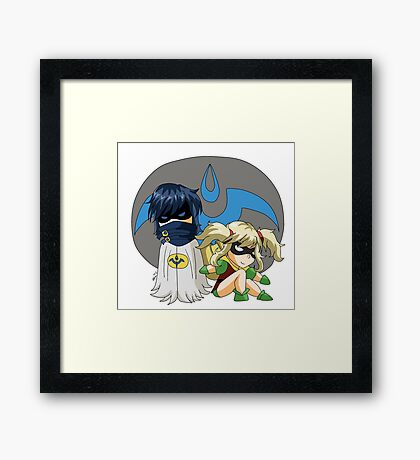 Chroman and Robin Framed Print