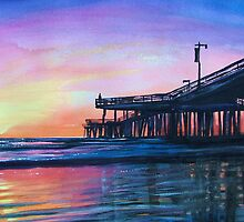 """Pismo Pier at Sunset"" by T.Fowler-Bailey by tfowlerbailey"