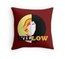 The Many Faces Of Willow Throw Pillow