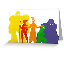 Freelancers Silhouette  Greeting Card