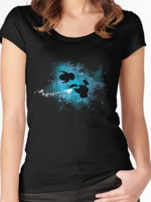 Robots in Space Women's Fitted Scoop T-Shirt