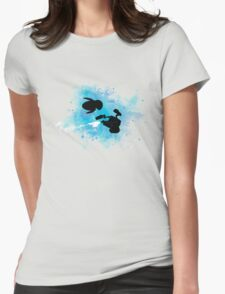 Robots in Space Womens Fitted T-Shirt