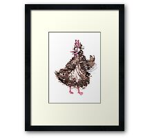 Chicken waving Framed Print