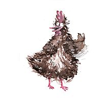 Chicken waving Photographic Print