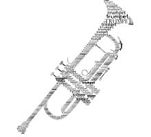 Typographic Trumpet by hedehede