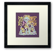 Oggle Rock Framed Print