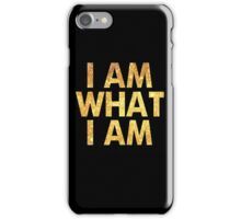I am what I am lyric - John Barrowman (BLACK) iPhone Case/Skin