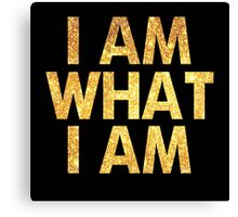 I am what I am lyric - John Barrowman (BLACK) Canvas Print