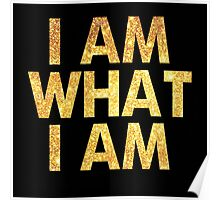 I am what I am lyric - John Barrowman (BLACK) Poster