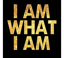 I am what I am lyric - John Barrowman (BLACK) Photographic Print
